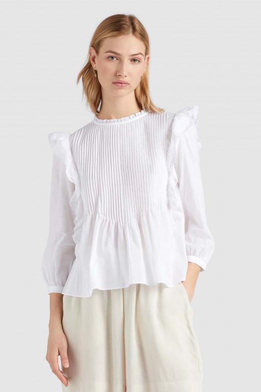 "KHUJO Damen Bluse - ""Halia Bluse white"""