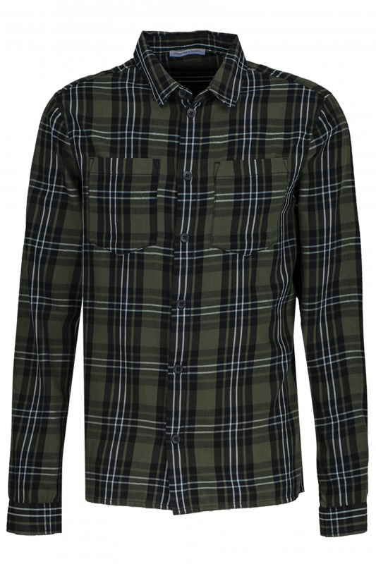 "YOUNG POETS SOCIETY Herren Hemd - ""Mic washed shirt empty bottle/black"""