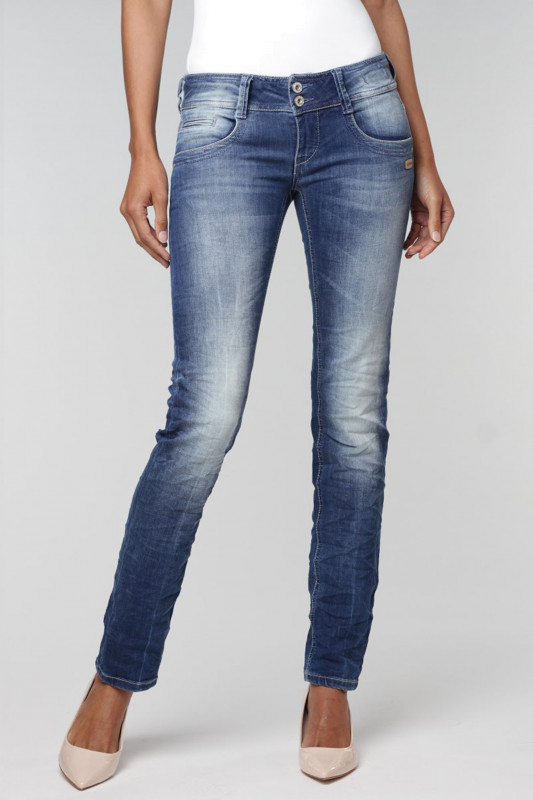 "Gang Damen Jeans - ""New Liv meridien Denim no square mid wash"""