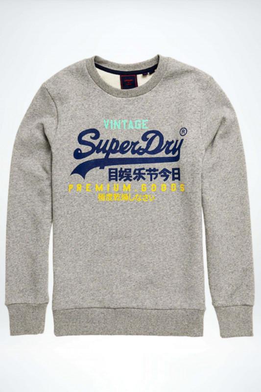 """SUPERDRY Herren Sweatshirt """"VL Tri Crew silver glass feeder"""""""