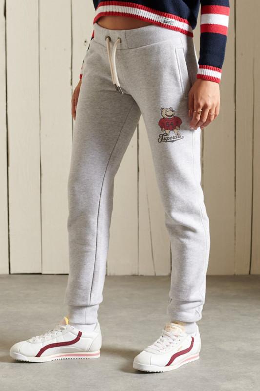 "SUPERDRY Damen Jogginghose - ""Collegiate Jogger grey marl"""