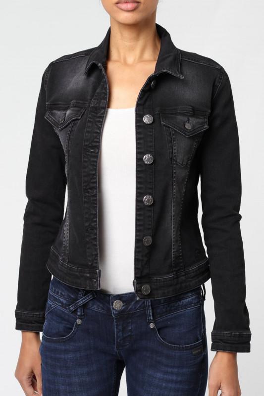 "GANG Damen Jeansjacke ""Mira Denim Jacket worn out black"""