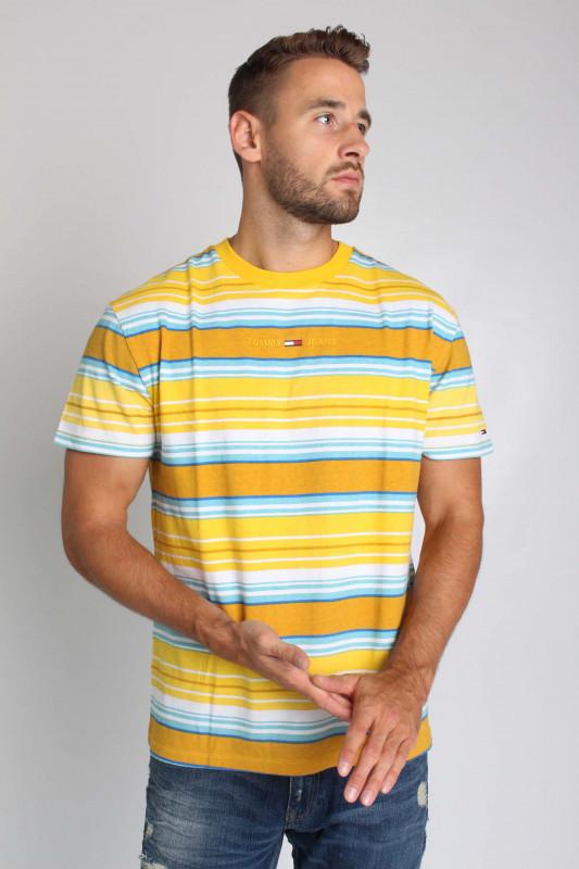 "TOMMY HILFIGER Herren T-Shirt - ""TJM Multistripe Layout Tee pollen multi"""