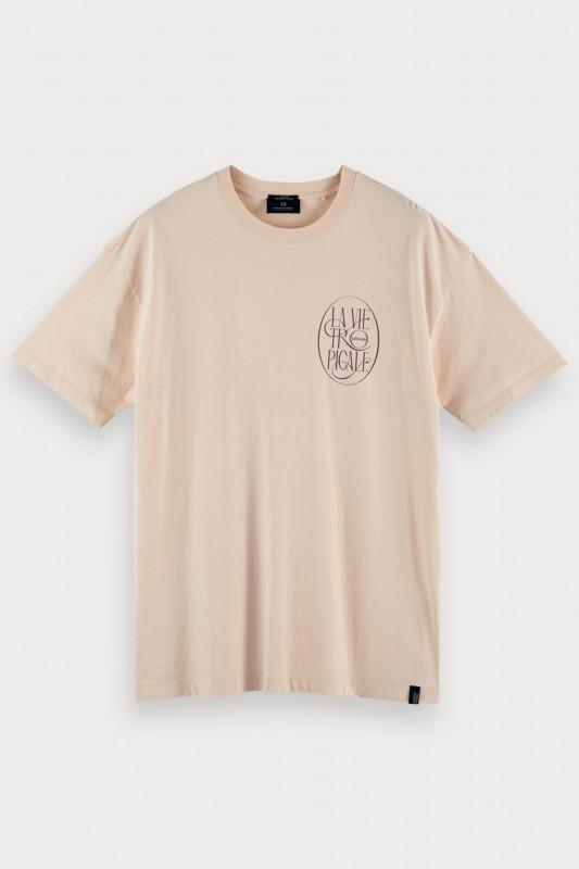 "Scotch & Soda Herren T-Shirt - ""Jersey Crewneck Chest Artwork"""