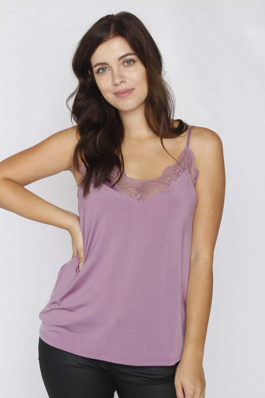 "SAMSØE & SAMSØE Damen Top - ""Linda Top col.6202 purple"""