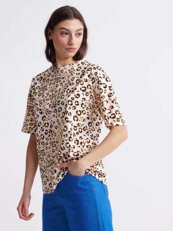 """Superdry Damen T-Shirt - """"DESERT LEOPARD OS TEE ANIMAL P"""""""
