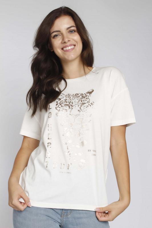 """CATWALK JUNKIES Damen T-Shirt - """"TS Wildheart off white"""""""
