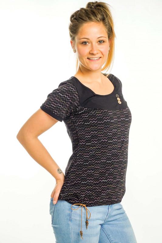 "STRANGE Damen T-Shirt - ""IRINA black / zigzack"""