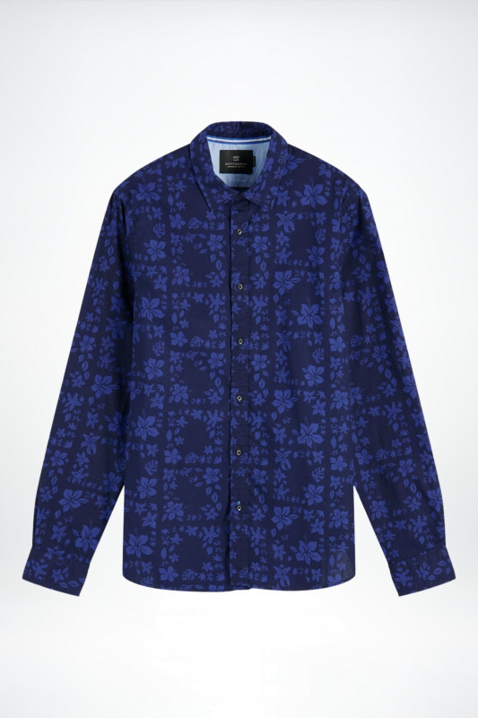 "Scotch & Soda Herren Hemd - ""Classic all over printed popli"""