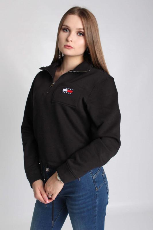 "TOMMY HILFIGER Damen Sweatshirt - ""TJW RELAXED BADGE QUARTER ZIP"""