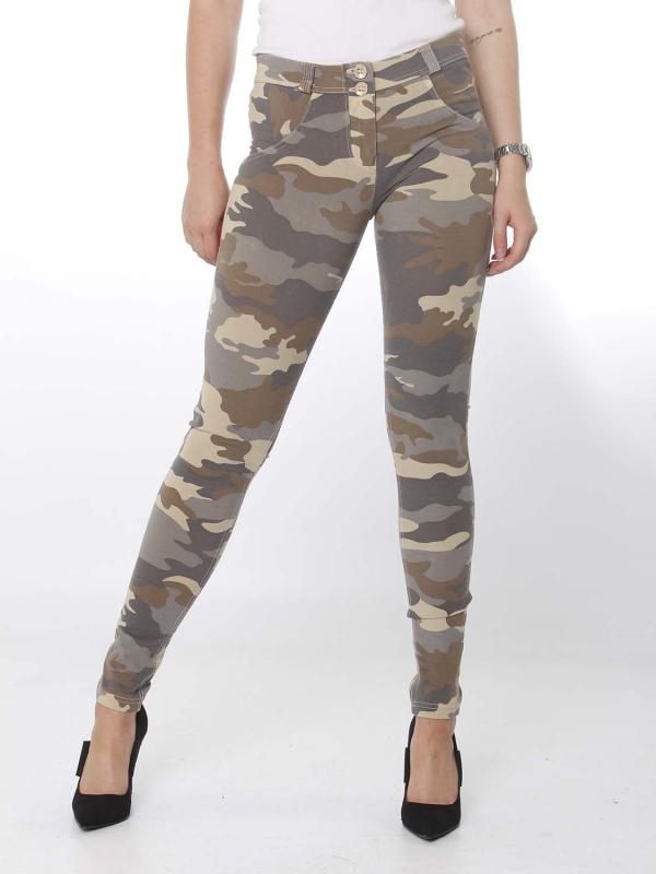 FREDDY WR.UP® - 7/8 Regular Waist Super Skinny - camouflage - Z48M