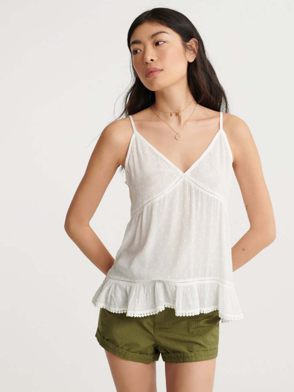 """SUPERDRY Damen Top - """"SUMMER LACE CAMI white"""""""