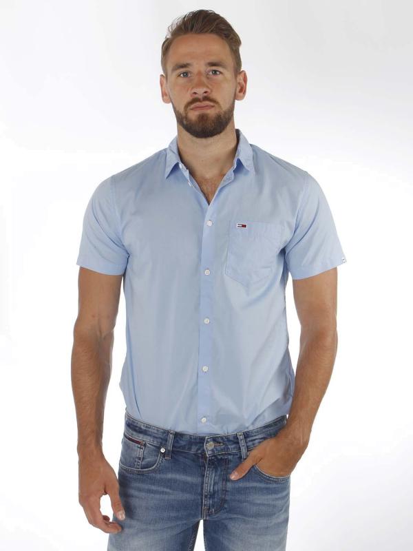 """TOMMY HILFIGER Herren Hemd - """"SS POPLIN Shirt blue"""""""