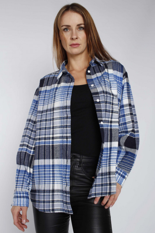 "Wrangler Damen Hemd ""Flannel Overshirt parisian night"""