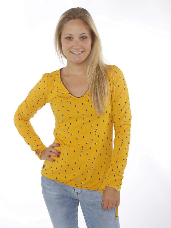 """STRANGE Damen Longsleeve - """"ILI 3 LS mustard / drops"""""""