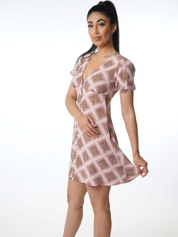 "Samsoe & Samsoe Damen Kleid - ""Petunia dress aop col.18"""