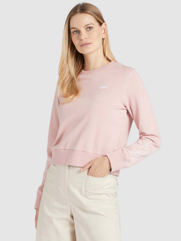 "KHUJO Damen Sweatshirt - ""ANAKONI leaves embro pink"""