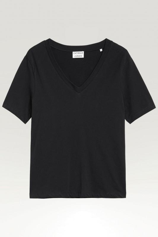 "CATWALK JUNKIE Damen T-Shirt - ""TS SOLLY BLACK"""