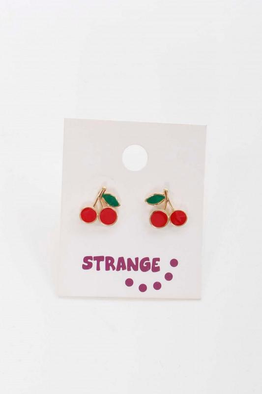 """STRANGE Damen Ohrringe - """"Cherry Earstuds red"""""""