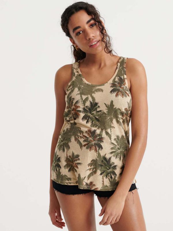 """SUPERDRY Damen Top - """"Desert Linen Vest"""""""