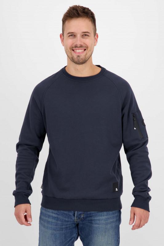 "ALIFE AND KICKIN Herren Sweatshirt - ""Vinn Crewneck marine"""