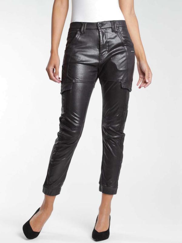 Gang Giselle Deep Crotch Cargo Lederoptik Hose