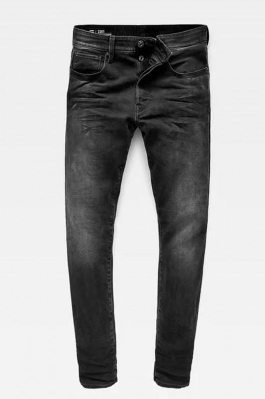 "G-STAR RAW Herren Jeans - ""3301 Tapered Straight Soot black"""