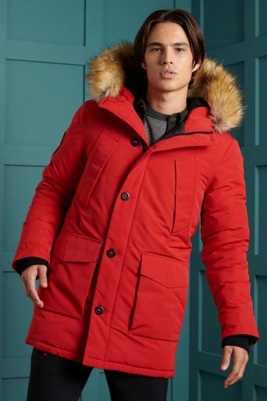 """Superdry Herren Jacke - """"Everest Parka Jacket high risk red"""""""