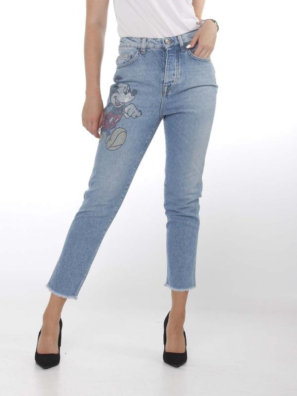 """Liu Jo Damen Jeans - """"WD New Slim den. Blue cartoon"""""""