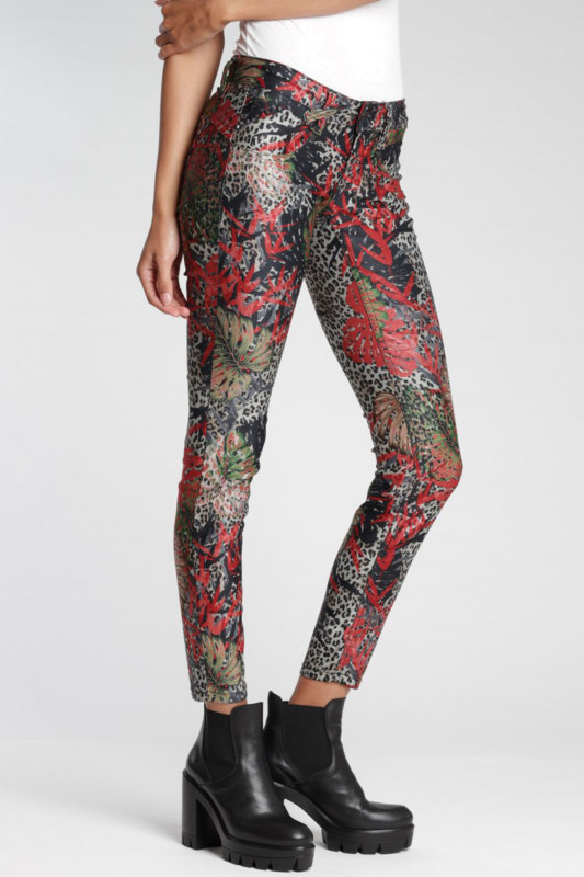 "Gang Damen Jeans - ""Nena Skinny Fit Jeans red leo flower"""