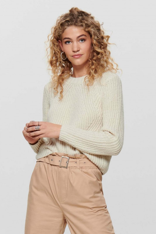 """ONLY Damen Pullover - """"Fiona LS Pullover whitecap"""""""