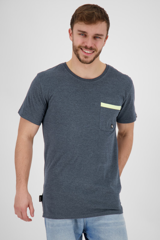 "ALIFE AND KICKIN Herren T-Shirt - ""Logo Pocket Shirt marine"""