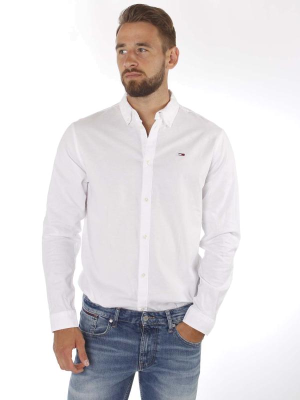 "TOMMY HILFIGER Herren Hemd - ""Stretch Oxford Shirt white"""
