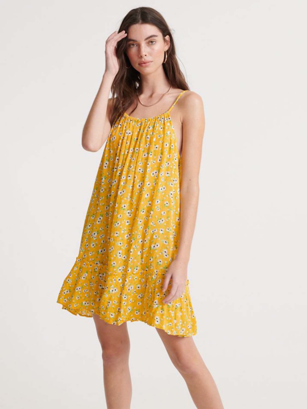 "Superdry Damen Kleid - ""DAISY BEACH DRESS YELLOW FLORA"""