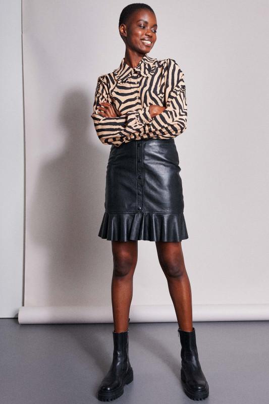 "CATWALK JUNKIE Damen Rock ""SK Veronika Leather Skirt black"""