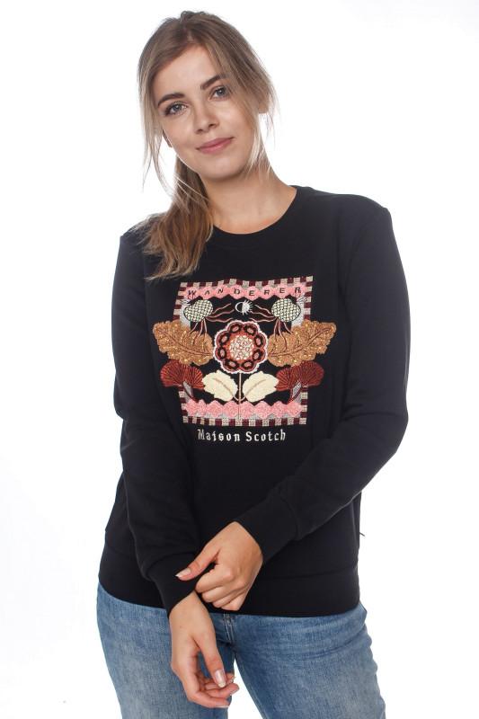 "SCOTCH & SODA Damen Sweatshirt - ""Crewneck Sweat black"""