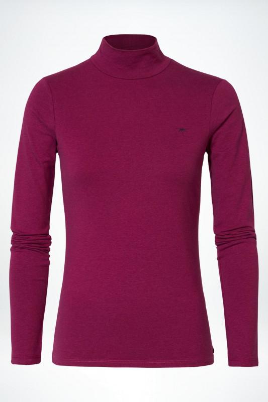 "PETROL Damen Pullover- ""T-Shirt Collar boysenberry"""