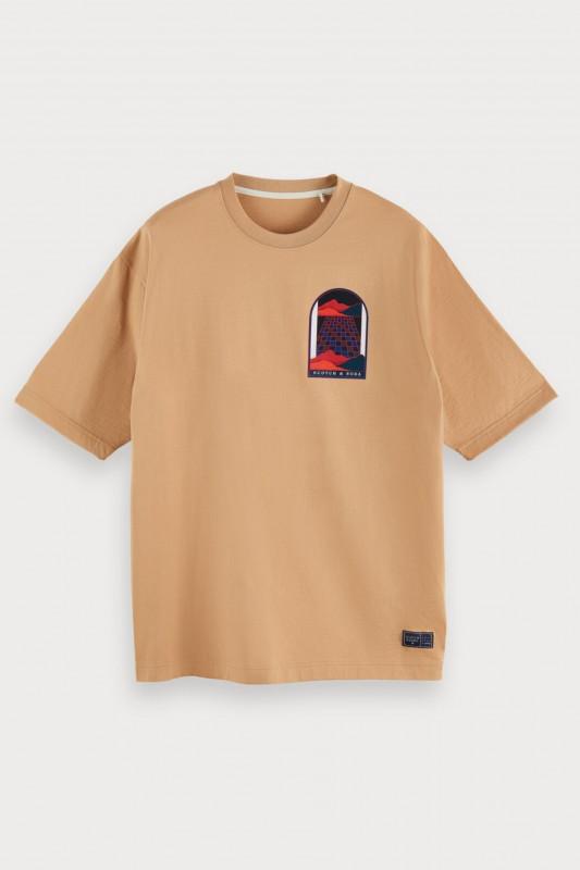 """Scotch & Soda Herren T-Shirt - """"Oversized Crewneck Artwork san"""""""
