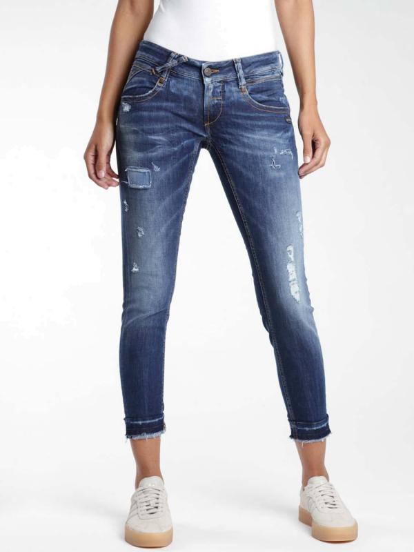 "Gang Damen Jeans - ""Nena Cropped Fit Jeans trendy vint wash"""