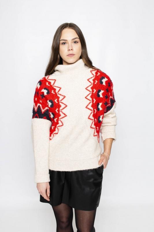 "KHUJO Damen Pullover - ""JEANY cream"""