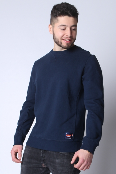 "SUPERDRY Herren Sweatshirt - ""Dry Originals Crew Sweat beach navy"""