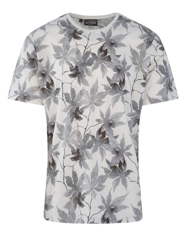 "Mazine Herren T-Shirt - ""Rothes Allover t white"""