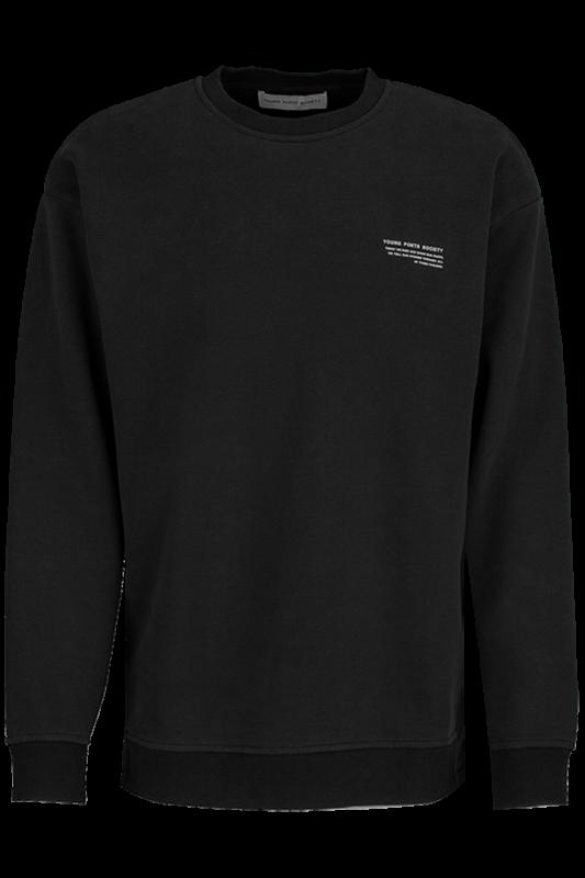 """YOUNG POETS SOCIETY Herren Sweatshirt - """"Ciel clean black"""""""