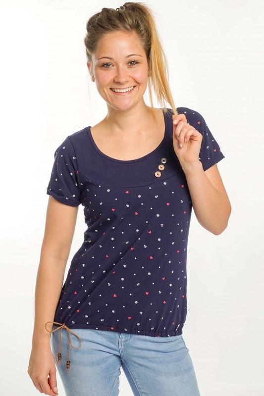 """STRANGE Damen T-Shirt - """"IRINA marine / heart & anchor"""""""