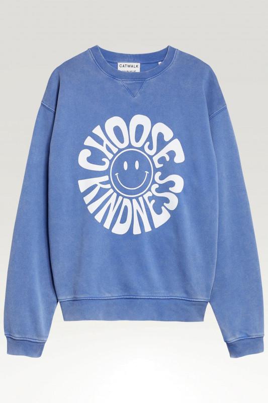 """Catwalk Junkie Damen Sweatshirt - """"SW Kindness dazzeling blue"""""""