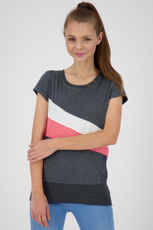 "ALIFE AND KICKIN Damen T-Shirt - ""Clea Shirt marine"""