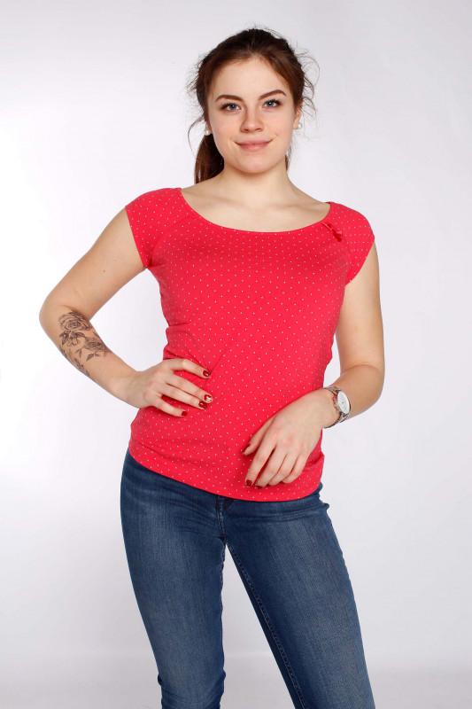 "STRANGE Damen T-Shirt - ""DESI 2 magenta / dots"""
