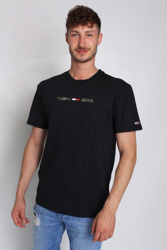"TOMMY HILFIGER Herren T-Shirt - ""TJM Seasonal Linear Logo Tee black"""