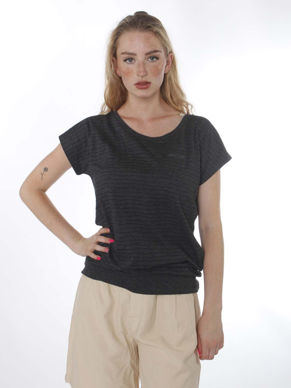 "Mazine Damen T-Shirt - ""Derry T black mel/stripes"""