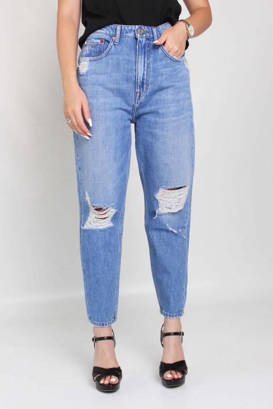 "TOMMY HILFIGER Damen Jeans - ""Mom Jean Uhr Tprd AE718 Hyl denim light"""